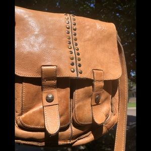 Patricia Nash Armeno distressed messenger bag